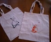 sacs peint main